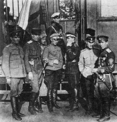 Фотография белых офицеров (1919 год)