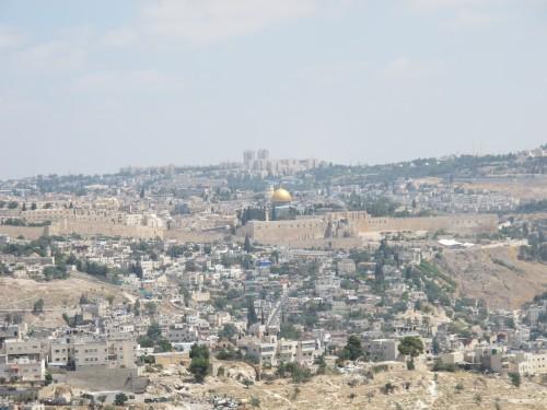 Иерусалим - родина трех мировых религий. Вид на Храмовую гору.