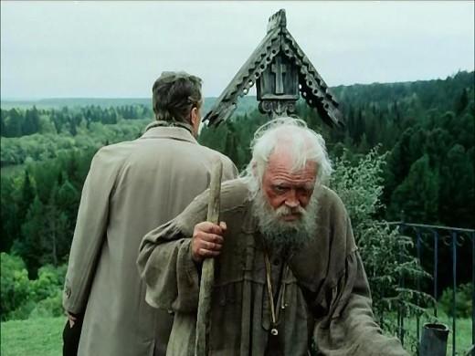 Вечный дед в исполнении Павла Кадочникова - самый загадочный и мистический образ в фильме, образ человека живущего в полной гармонии с природой